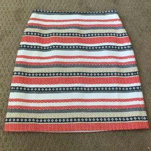NWT LOFT Striped Skirt, Size 00P